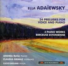 Ella Adaiewsky (Elisabeth von Schultz) (1846-1926): 24 Preludes für Stimme & Klavier, CD