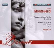 Claudio Monteverdi (1567-1643): Vespro della beata vergine, 3 CDs