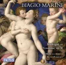 Biagio Marini (1597-1665): Madrigali & Symphonie zu 1, 2, 3, 4 & 5 Stimmen op.II (1618), 1 CD und 1 DVD