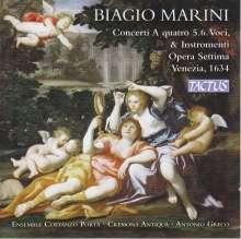 Biagio Marini (1597-1665): Concerti zu 2,4,5,6 Stimmen & Instrumente op.7, 2 CDs