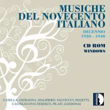 Musiche Del Novecento Italiano (CD-ROM Windows), CD