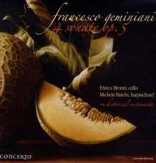Francesco Geminiani (1687-1762): Sonaten für Cello & Bc op.5 Nr.1-4, LP
