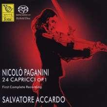 Niccolo Paganini (1782-1840): Capricen op.1 Nr.1-24 für Violine solo, 2 Super Audio CDs