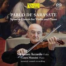"""Pablo de Sarasate (1844-1908): Werke für Violine & Klavier """"Spanische Tänze"""", Super Audio CD"""