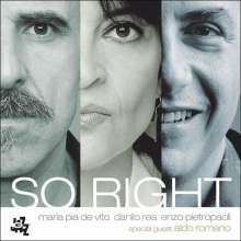 Maria Pia de Vito (geb. 1960): So Right, CD