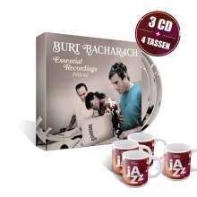 Burt Bacharach: Essential Recordings 1955-62 (Limitierte Edition + 4 Jazzpresso Tassen), 3 CDs und 1 Merchandise