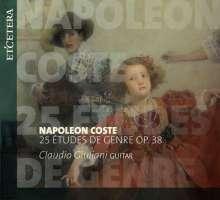 Napoleon Coste (1806-1883): 25 Etudes de Genre für Gitarre op.38, CD