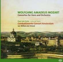 Wolfgang Amadeus Mozart (1756-1791): Hornkonzerte Nr.1-4, Super Audio CD