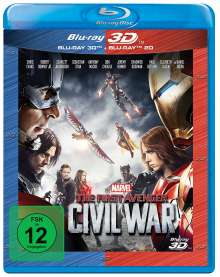The First Avenger: Civil War (3D & 2D Blu-ray), 2 Blu-ray Discs