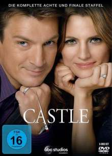 Castle Season 8 (finale Staffel), 6 DVDs