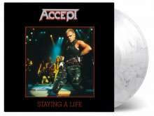Accept: Staying A Life (180g) (Limited Numbered Edition) (Translucent & Black Mixed Vinyl), 2 LPs