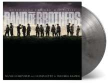 Michael Kamen: Filmmusik: Band Of Brothers (O.S.T.) (180g) (Limited-Numbered-Edition) (Silver/Black Marbled Vinyl), 2 LPs