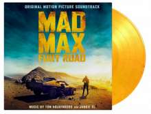 Filmmusik: Mad Max: Fury Road (Junkie XL) (180g) (Limited Numbered Edition) (Flaming Vinyl), 2 LPs