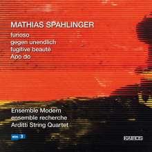 Mathias Spahlinger (geb. 1944): Furioso für Ensemble, CD