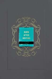 Sharon Jones: Burn After Writing (Gray), Buch