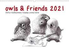 Stefan Kahlhammer: owls & friends 2021 (Wall Calendar 2021 DIN A3 Landscape), Kalender