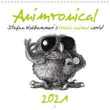 Stefan Kahlhammer: Animronical 2021 Stefan Kahlhammer's ironic animal world (Wall Calendar 2021 300 × 300 mm Square), Kalender