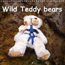 Karin Sigwarth: Wild Teddy bears (Wall Calendar 2021 300 × 300 mm Square), Kalender