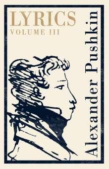 Alexander S. Puschkin: Lyrics: Volume 3 (1824-29), Buch