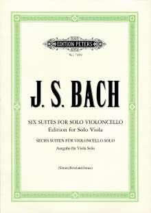 Johann Sebastian Bach: Suiten für Violoncello solo BWV 1007-1012 -Übertragung für Viola solo-, Noten