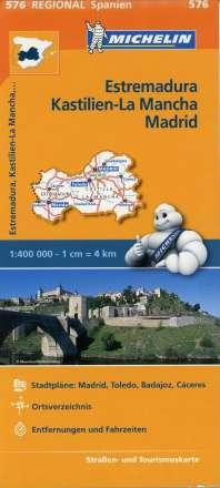 Michelin Regionalkarte Estremadura (Extremadura), Kastilien-La Mancha, Madrid 1 : 400 000, Diverse