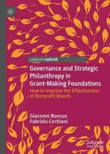 Giacomo Boesso: Governance and Strategic Philanthropy in Grant-Making Foundations, Buch