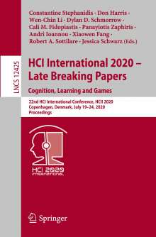 HCI International 2020 - Late Breaking Papers: Cognition, Learning and Games, Buch