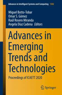 Advances in Emerging Trends and Technologies, Buch