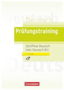 Dieter Maenner: Prüfungstraining DaF B1.  Zertifikat Deutsch / telc Deutsch mit Audio-CD, Buch