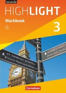 Gwen Berwick: English G Highlight  03: 7. Schuljahr Hauptschule. Workbook mit Audios online, Buch