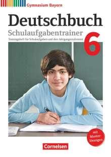 Bärbel Kößler-Finkenzeller: Deutschbuch Gymnasium 6. Jahrgangsstufe - Bayern - Schulaufgabentrainer mit Lösungen, Buch
