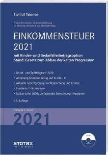 Tabelle, Einkommensteuer 2021, Buch