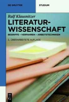 Ralf Klausnitzer: Literaturwissenschaft, Buch