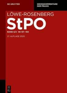 Löwe/Rosenberg. Die Strafprozeßordnung und das Gerichtsverfassungsgesetz §§ 137-150, Buch