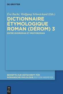 Dictionnaire Étymologique Roman (DÉRom) 3, Buch