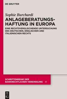 Sophie Burchardi: Anlageberatungshaftung in Europa, Buch