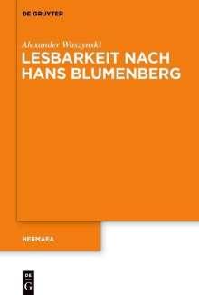 Alexander Waszynski: Lesbarkeit nach Hans Blumenberg, Buch