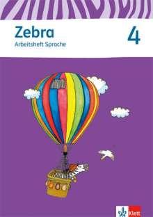 Zebra 4 Arbeitsheft Sprache 4. Schuljahr, Buch