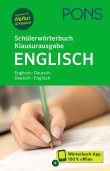 PONS Schülerwörterbuch Klausurausgabe Englisch, 1 Buch und 1 Diverse