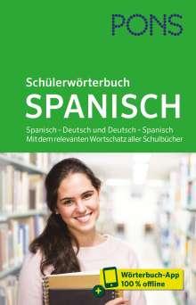 PONS Schülerwörterbuch Spanisch, 1 Buch und 1 Diverse