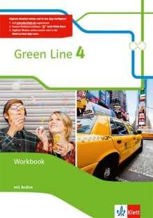Green Line 4. Workbook mit Audio-CD Klasse 8, 1 Buch und 1 Diverse