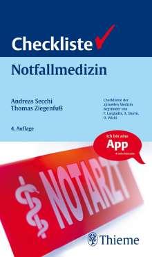 Andreas Secchi: Checkliste Notfallmedizin, 1 Buch und 1 Diverse