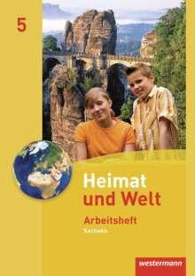 Heimat und Welt 5 - Ausgabe 2011 Sachsen. Arbeitsheft, Buch