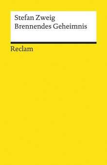 Stefan Zweig: Brennendes Geheimnis, Buch