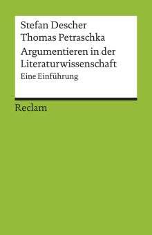 Stefan Descher: Argumentieren in der Literaturwissenschaft, Buch