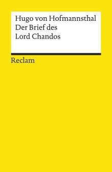 Hugo von Hofmannsthal: Der Brief des Lord Chandos, Buch