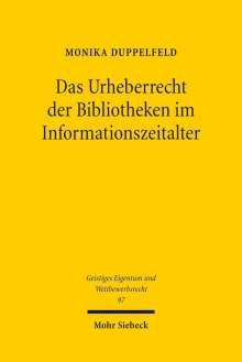 Monika Duppelfeld: Das Urheberrecht der Bibliotheken im Informationszeitalter, Buch