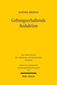 Alessia Dedual: Geltungserhaltende Reduktion, Buch