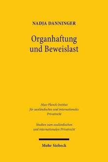 Nadja Danninger: Organhaftung und Beweislast, Buch