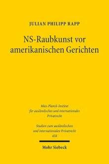 Julian Philipp Rapp: NS-Raubkunst vor amerikanischen Gerichten, Buch